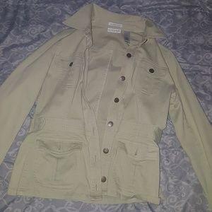 Light green button up jacket